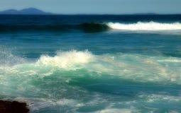 El mar azul grande Fotos de archivo libres de regalías
