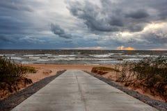 El mar Báltico durante el viento fotos de archivo libres de regalías