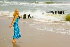 El mar Báltico me está llamando en la tormenta Fotografía de archivo libre de regalías