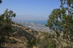 El mar de Galilea y de Tiberíades Fotos de archivo libres de regalías