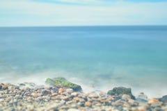 El mar de la playa oscila la exposición larga Fotografía de archivo libre de regalías