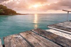 El mar de madera relaja el puente Foto de archivo libre de regalías