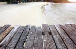 El mar de madera relaja el puente Foto de archivo