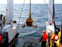 El mar de Ojotsk/de Rusia - 18 de julio de 2015: El despliegue de la base de la caja Imagen de archivo
