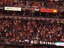El mar de San anaranjado Francisco Giant aviva en los soportes del estadio de béisbol Imagenes de archivo