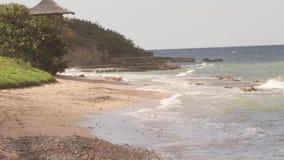 El mar del Caribe agita vacaciones tropicales metrajes