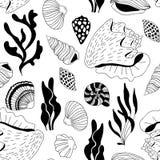El mar del garabato descasca el modelo libre illustration