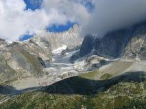 El mar del hielo, Mont Blanc Imagen de archivo libre de regalías