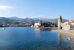 El mar en Collioure Fotografía de archivo libre de regalías