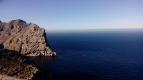 El mar en el cao de formentor Royalty Free Stock Photo