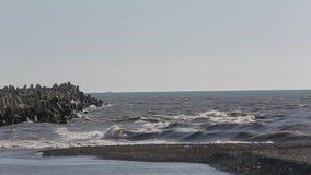 El mar es 1 salvaje y sucio almacen de metraje de vídeo