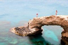 El mar excava el área de Greco del cabo en Chipre Imagen de archivo libre de regalías