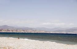 El mar Mediterráneo francés de riviera Niza Francia Imagen de archivo libre de regalías