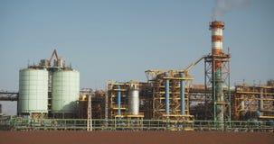 El mar muerto trabaja la fábrica química para los minerales y los fertilizantes, mar muerto en Israel almacen de video