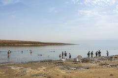 El mar muerto y su fango curativo Israel imagen de archivo