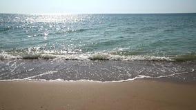 El Mar Negro agita en la línea de la playa almacen de metraje de vídeo
