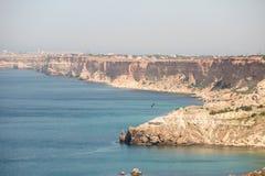 El Mar Negro Cabo de Fiolent crimea imagen de archivo libre de regalías