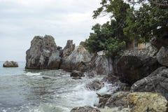 El Mar Negro en Gurzuf Fotos de archivo libres de regalías