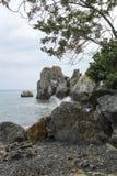 El Mar Negro en Gurzuf Fotografía de archivo