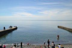 El Mar Negro en Sochi Foto de archivo libre de regalías