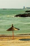 El Mar Negro y playa en el centro turístico de Olimp Fotos de archivo