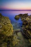 El mar oscila la exposición larga imagen de archivo libre de regalías