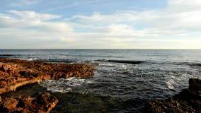 El mar tranquilo almacen de metraje de vídeo