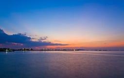 El mar tranquilo Foto de archivo