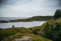 El mar tranquilo en puerto Fotografía de archivo libre de regalías