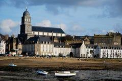 El mar y el Santo-Malo en Francia Imagen de archivo libre de regalías
