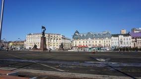 El mar y la ciudad vladivostok Rusia Imágenes de archivo libres de regalías