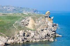 El mar y la roca Foto de archivo libre de regalías