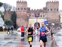El Mararathon de Roma, el 23 de marzo de 2014, Italia Imágenes de archivo libres de regalías