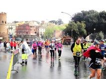 El Mararathon de Roma, el 23 de marzo de 2014, Italia Imagen de archivo libre de regalías
