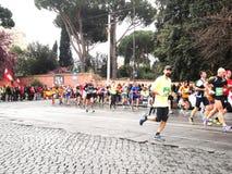 El Mararathon de Roma, marzo de 2014, 11mo kilómetro Fotos de archivo libres de regalías