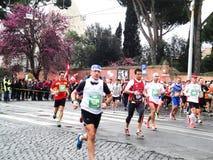 El Mararathon de Roma, marzo de 2014, 11mo kilómetro Imágenes de archivo libres de regalías