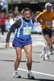 El maratón de ING New York City, los viejos hombres tiene un dolor Fotografía de archivo libre de regalías