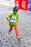El maratón de los niños en Oslo, Noruega Foto de archivo