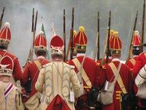 El marchar británico de los soldados Foto de archivo