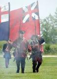 El marchar en 1700s de la batalla Foto de archivo libre de regalías