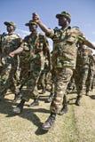 El marchar etíope de los soldados del ejército Fotos de archivo libres de regalías