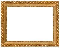 El marco antiguo del oro Foto de archivo libre de regalías