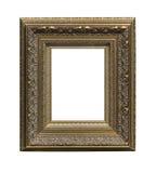 El marco antiguo del oro Foto de archivo