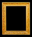 El marco antiguo del oro Fotografía de archivo