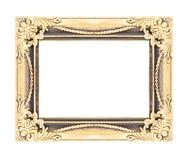 El marco antiguo del oro aislado en el fondo blanco Imagen de archivo libre de regalías