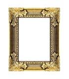 El marco antiguo del oro en el blanco Imágenes de archivo libres de regalías