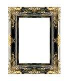 El marco antiguo del oro en el blanco Fotos de archivo libres de regalías