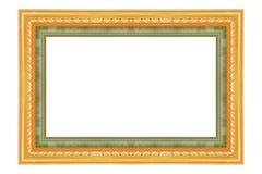 El marco antiguo del oro en el blanco Fotografía de archivo