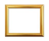 El marco antiguo del oro en el fondo blanco Imagenes de archivo