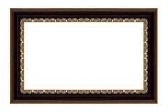 El marco antiguo en el blanco Imágenes de archivo libres de regalías